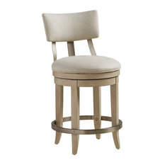 Cliffside Swivel Solid Upholstered Counter Stool