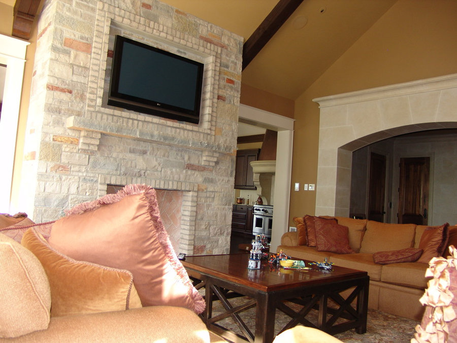 Family Room Fireplace Television Installation
