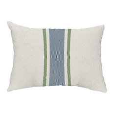 "Grain Sack 14""x20"" Decorative Outdoor Pillow, Navy Blue"
