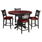 Cabin Creek 5 Piece Dining Set Transitional Dining