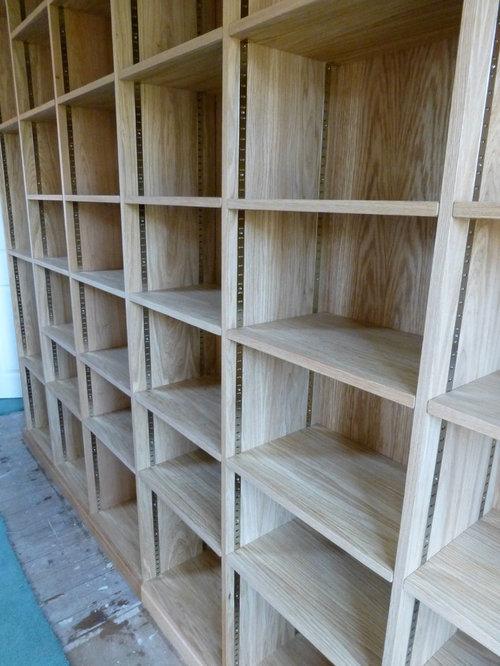 Custom Made Moveable Bookshelves - Bookcases