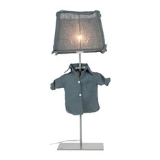 Bob Table Lamp, Blue Grey