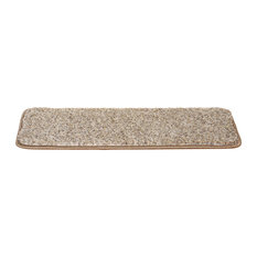 "Dean Non-Slip Pet Friendly DIY Carpet Stair Treads 30""x9"" (15) - Parchment Beige"