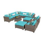 Monterey 13 Piece Outdoor Wicker Patio Furniture Set 13a