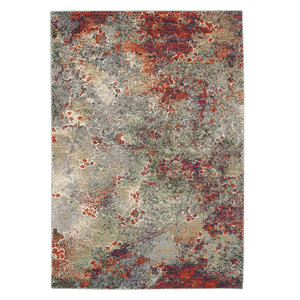 "Nourison Artworks Atw02 Organic/Abstract Rug, Seafoam/Brick, 8'6""x11'6"""