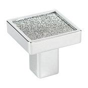 Small Square Sparkling Swarovski, Bright Chrome