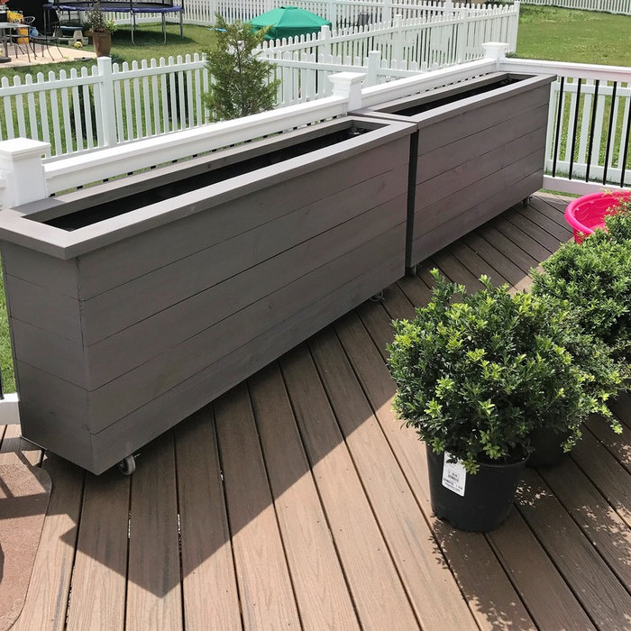 Custom Matching Planter Boxes On Wheels