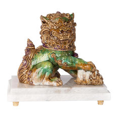 Jay Strongwater Yin Foo Dog Figurine Chinoiserie Finish