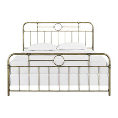 King Size Bronze Metal Pipe Bed