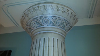 Before and after column makeover