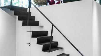 Лестница Черное на белом и Струны