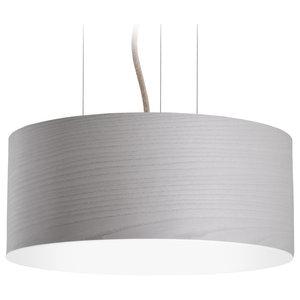 Large Veneli Pendant Light, Light Grey Ash Veneer