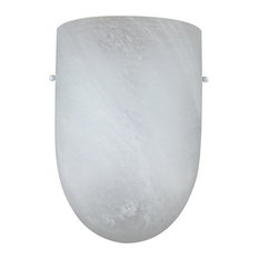 1-Light Fluorescent Energy Efficient Wall Sconce In White