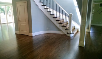 White oak installation sanded, stained, and a oil finish