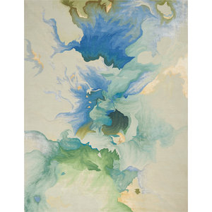 "Nourison Prismatic Contemporary Area Rug, Seafoam, 7'9""x9'9"""