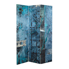 6' Tall Double Sided Blue Dream Canvas Room Divider