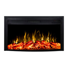 33 Inch Curved Ventless Heater Electric Fireplace Insert - Multi-function Remote
