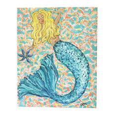 "Blonde Mermaid Canvas Art, 16x20"""