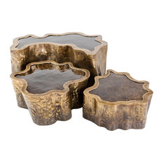 """Lake"" Handmade Coffee Tables, 3-Piece Set"