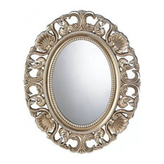 Home Locomotion   Gilded Oval Wall Mirror   Bathroom Mirrors