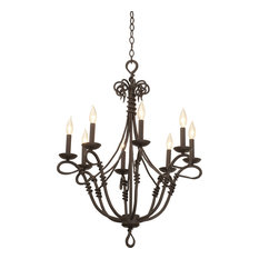 Vine Chandelier, Bark, Light Beige, 8-Light
