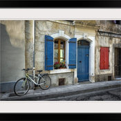"""Arles Bicycle"" Black Framed Art Print, 32""x24""x1"""