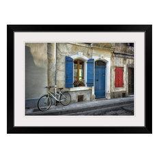 """Arles Bicycle"" Black Framed Art Print, 32""x24""x1"""