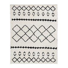 Zaragoza Handwoven Kilim Shag Wool Area Rug by Kosas Home, Ivory, 8'x10'