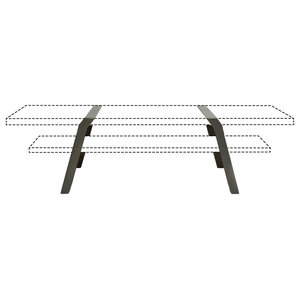 Steel Coffee Table Trestle Supports, Grey