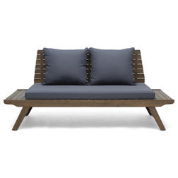 Transitional Outdoor Loveseats by GDFStudio