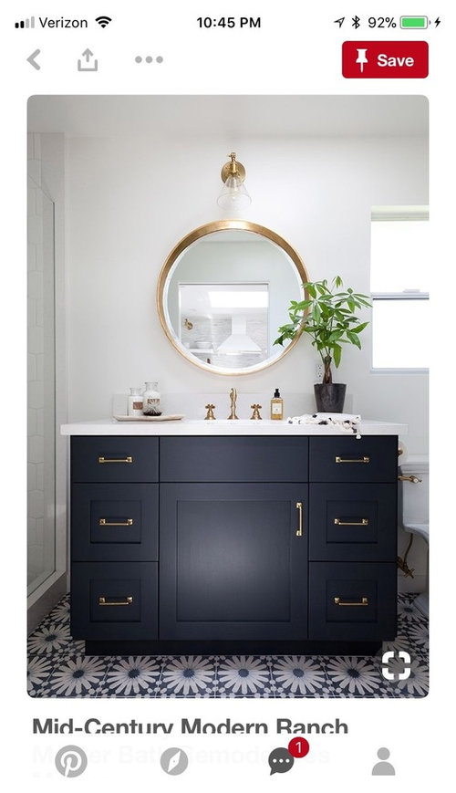 Two different vanities two different mirrors?!