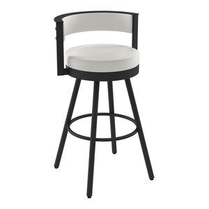 Brilliant Amisco Eller Swivel Stool Transitional Bar Stools And Creativecarmelina Interior Chair Design Creativecarmelinacom