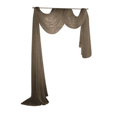 "Sheer Voile 216"" Long Window Scarf Swag"