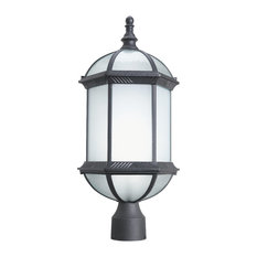 Woodbridge Lighting Glenwood Energy Saving Post Mount Light, Powder Coat Black