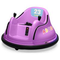 12V Kids Toy Electric Ride On Bumper Car, Purple