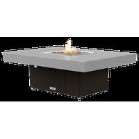 Rectangular Fire Pit Table, 48x36, Natural Gas, Hilltop Grey, Bronze