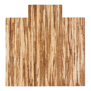 Anji Mountain Strand-Woven Bamboo 55  x57   Roll-Up Chairmat With Lip