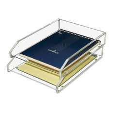Acrylic Double Letter Tray