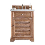 "Savannah 26"" Driftwood Single Vanity 4CM Santa Cecilia Granite"