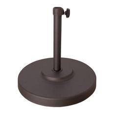 Patio Market Umbrella Base, 50 lbs, Bronze