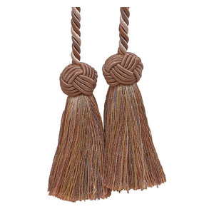 "Taupe Black 4/"" Double Tassel Tieback Midnight Meadow Invidual"