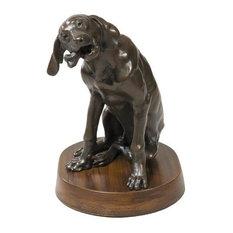 Sculpture Statue TRADITIONAL Antique Dog