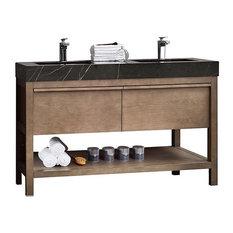 "Bibury 48"" Chestnut Oak Free Standing Modern Bathroom Vanity"