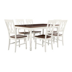 Shelby 7-Piece Dining Set White Finish