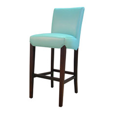 New Pacific Direct Inc Milton Bonded Leather Bar Stool Aqua Stools