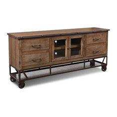 """Rustic Industrial Style 72"""" TV Stand/Sideboard Console"""