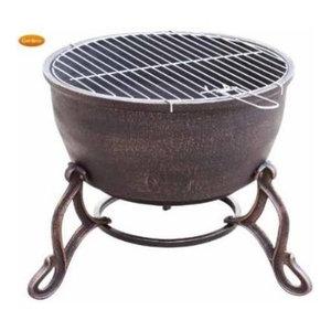Elidir Cast Iron Outdoor Fire Bowl & BBQ Grill