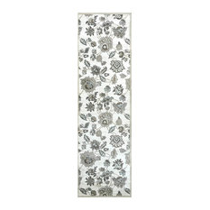 Floral Runner, Bone and Ivory