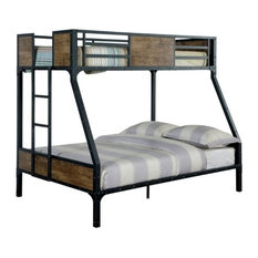 Furniture of America E-Commerce by Enitial Lab - Furniture of America Clapton Bunk Bed, Black, Twin over Full - Bunk Beds
