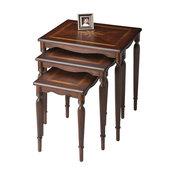 Butler Winifred Plantation Cherry Nesting Tables, 3-Piece Set